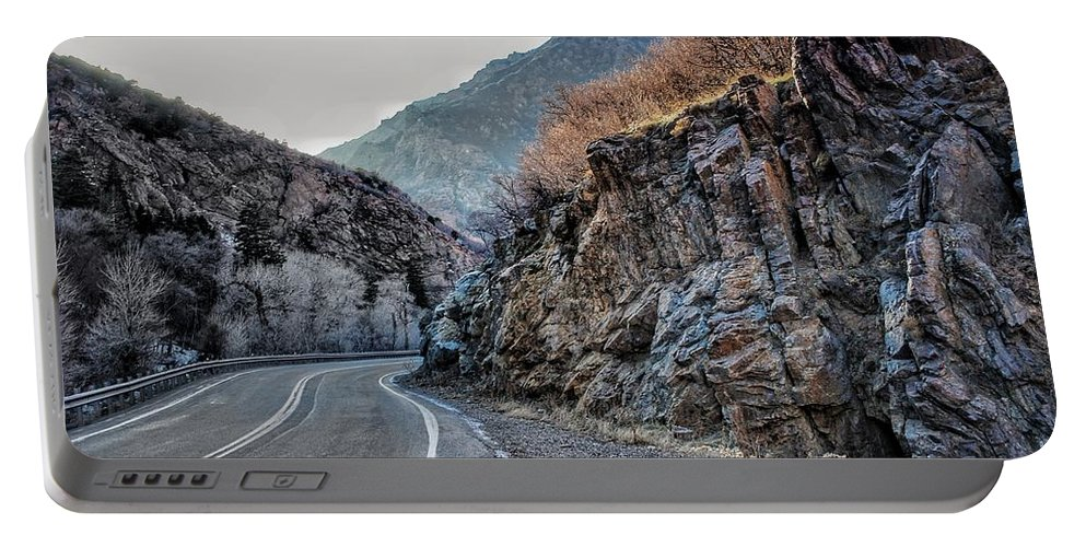 Winding Portable Battery Charger featuring the photograph Winding Canyon Road by Buck Buchanan