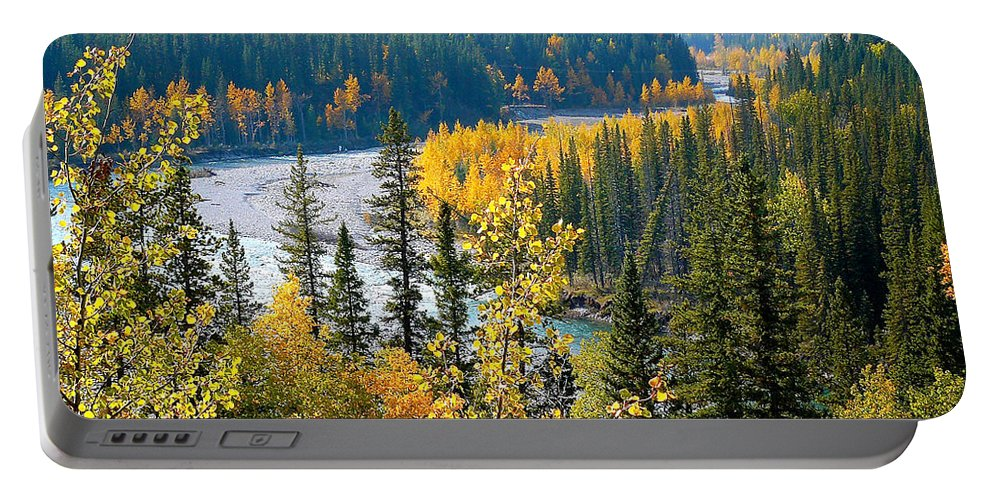 Landscape Portable Battery Charger featuring the photograph Winding Creek by Lisa Knechtel
