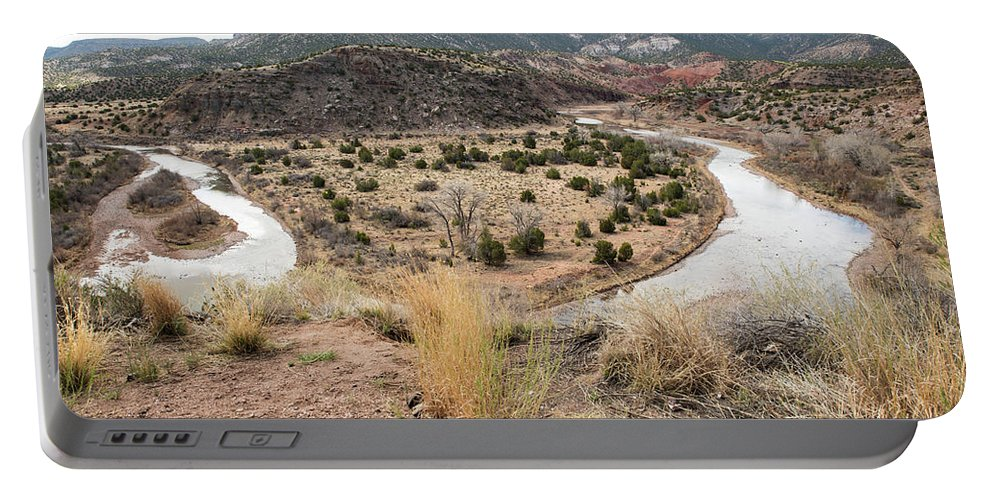 Rio Chama Portable Battery Charger featuring the photograph Winding Rio Chama by Tom Cochran