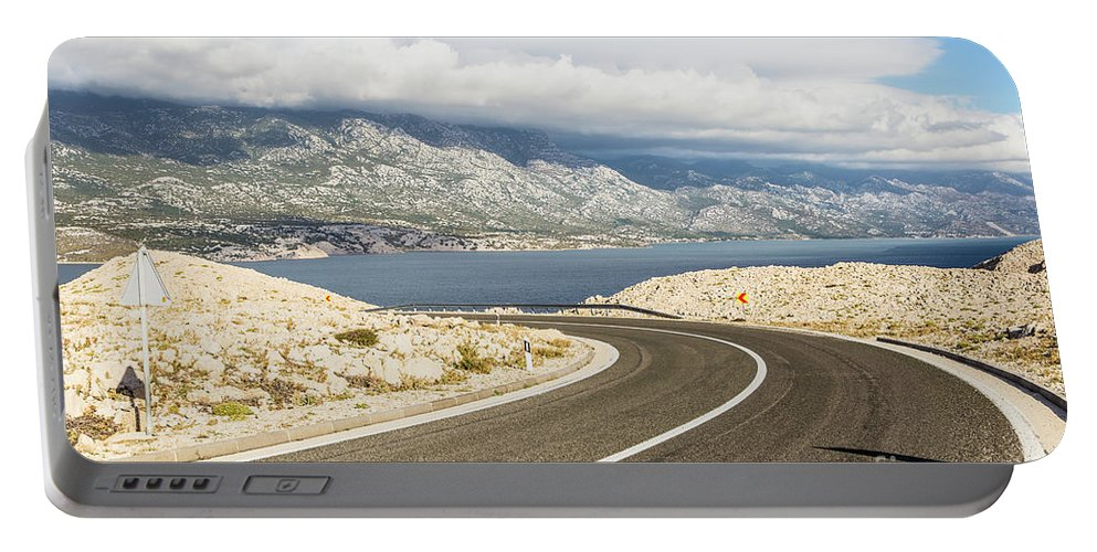 Balkans Portable Battery Charger featuring the photograph Winding Road In Croatia by Didier Marti