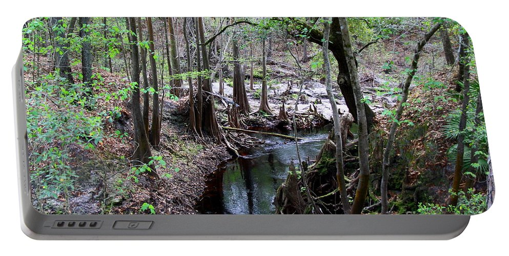 Sopchoppy River Portable Battery Charger featuring the photograph Winding Sopchoppy River by Barbara Bowen