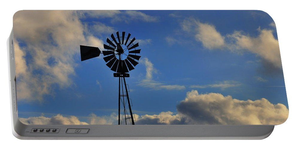 Windmill Portable Battery Charger featuring the photograph Windmill by David Arment