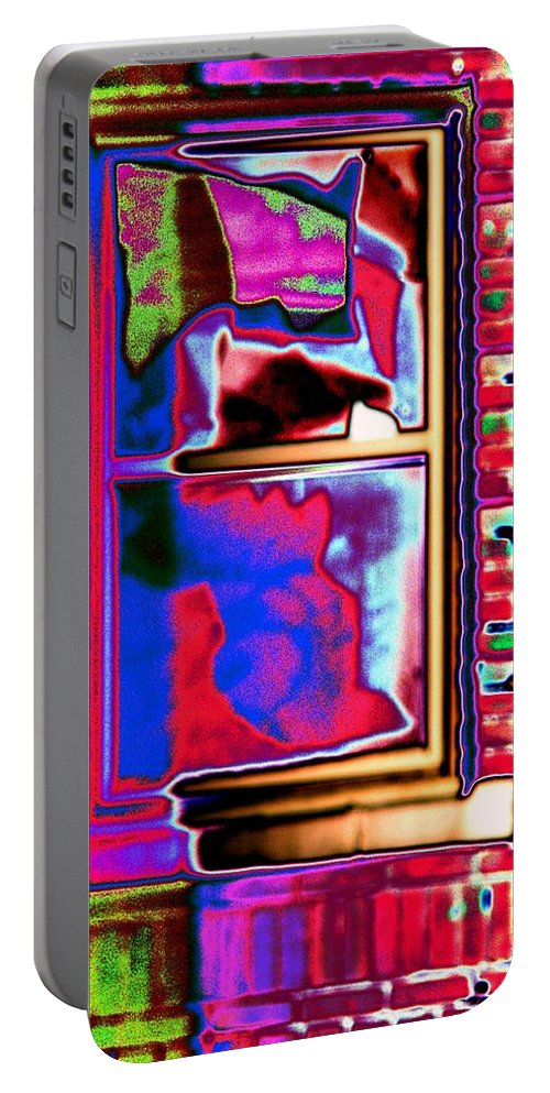 Window Portable Battery Charger featuring the digital art Window 1 by Tim Allen