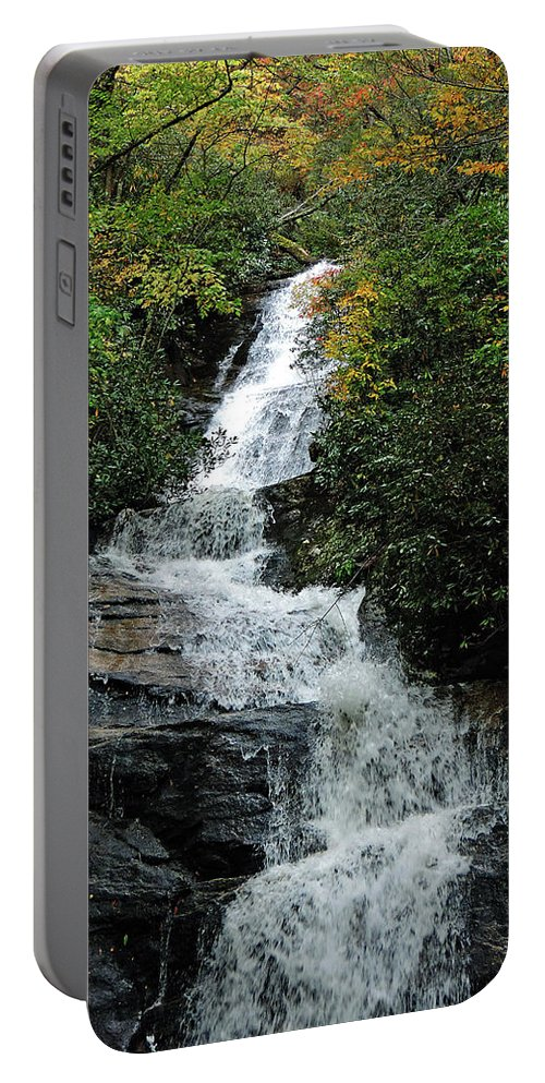 Blue Ridge Parkway Portable Battery Charger featuring the photograph Window At Fall by Tracy Crow