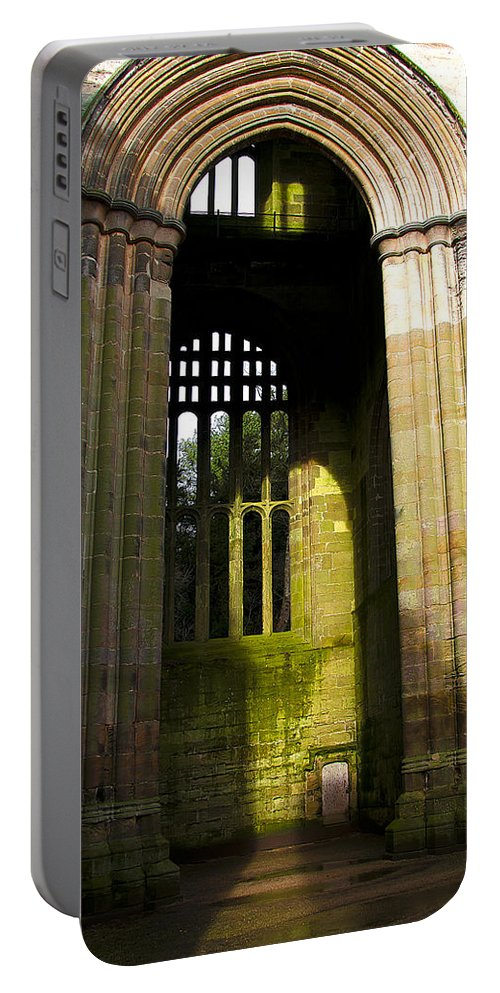 Castle Portable Battery Charger featuring the photograph Window Entrance by Svetlana Sewell