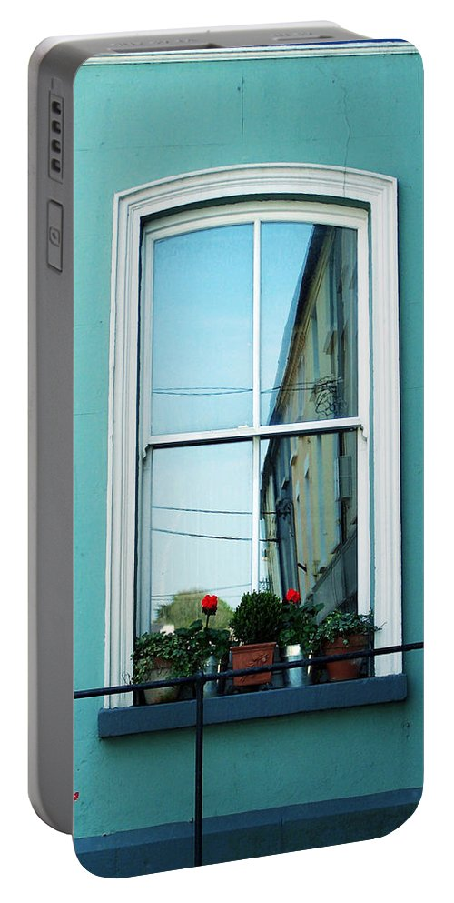 Irish Portable Battery Charger featuring the photograph Window In Ennistymon Ireland by Teresa Mucha
