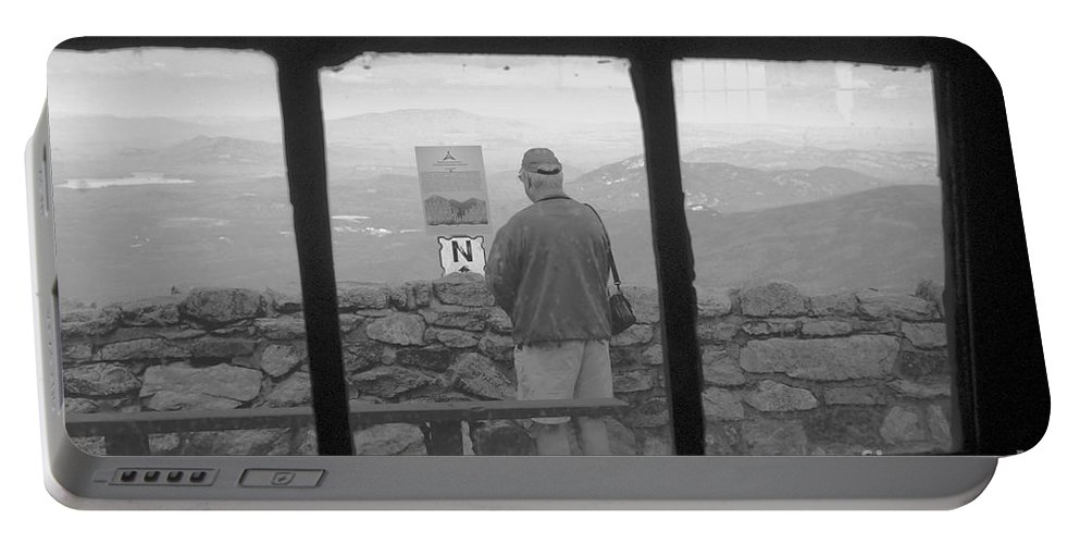 Windows Portable Battery Charger featuring the photograph Window On White Mountain by David Lee Thompson
