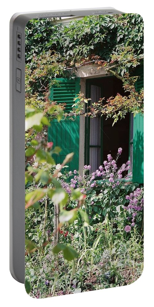 Charming Portable Battery Charger featuring the photograph Window To Monet by Nadine Rippelmeyer