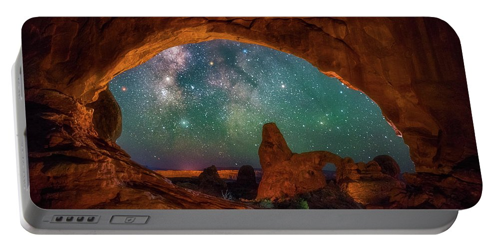 Night Sky Portable Battery Charger featuring the photograph Window To The Heavens by Darren White