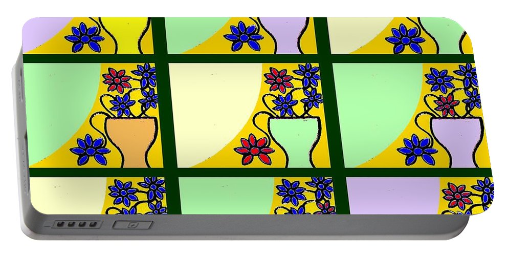 Windows Portable Battery Charger featuring the painting Windows by Patrick J Murphy
