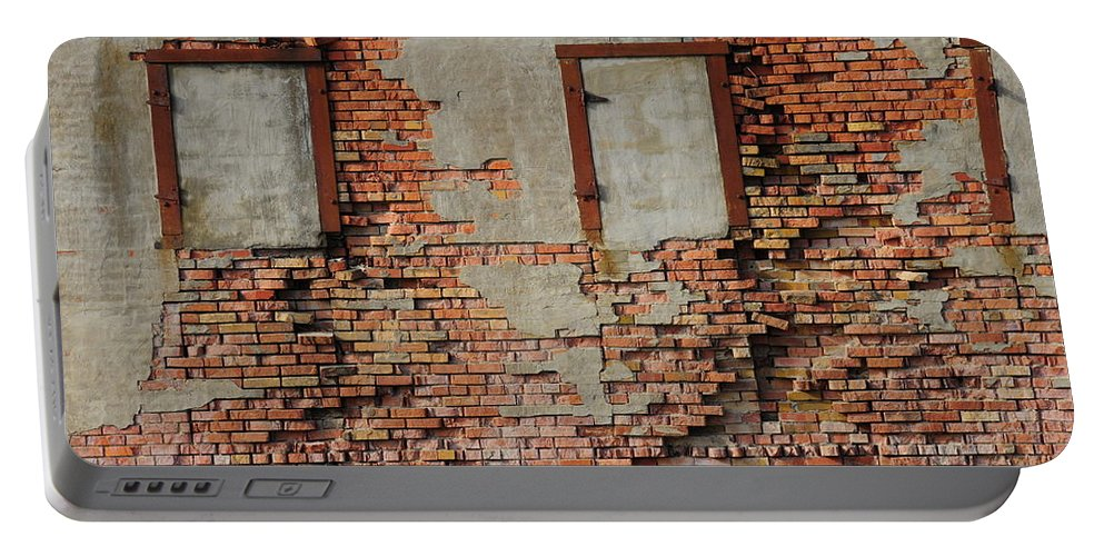 Bricked In Portable Battery Charger featuring the photograph Windows That Do Not See by David Arment