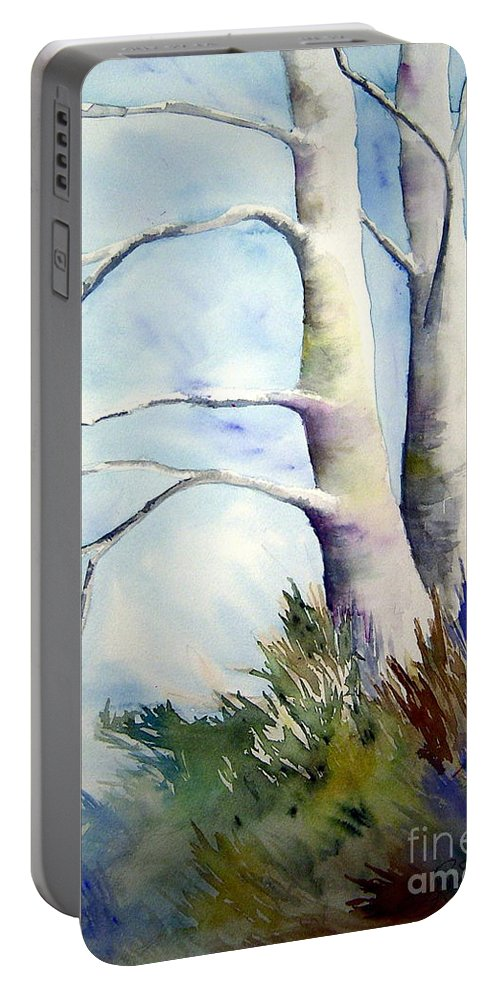 Provence France Mistrals Portable Battery Charger featuring the painting Winds Of Provence by Joanne Smoley