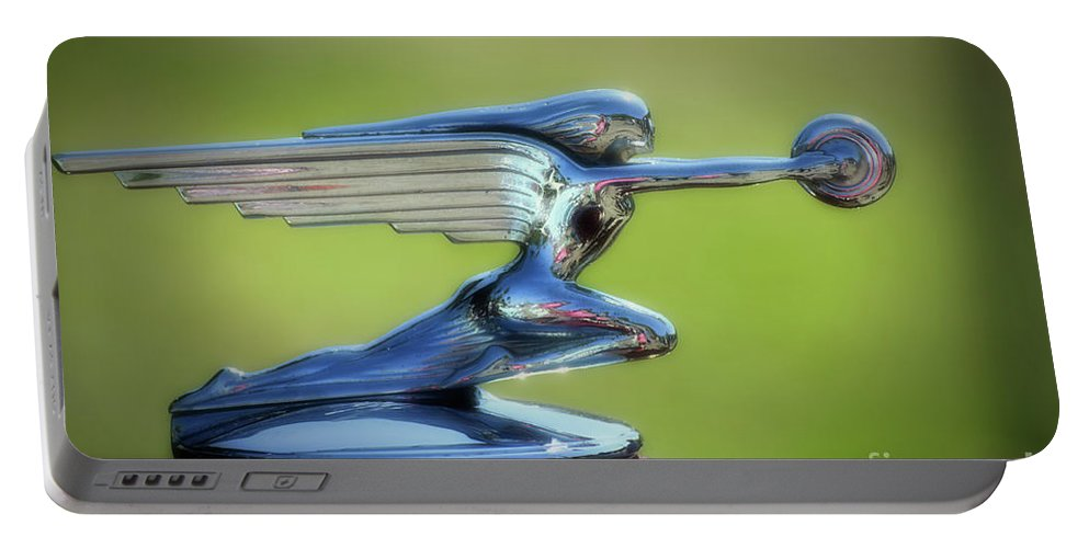 Automobile Portable Battery Charger featuring the photograph Winged Woman by Francine Hall