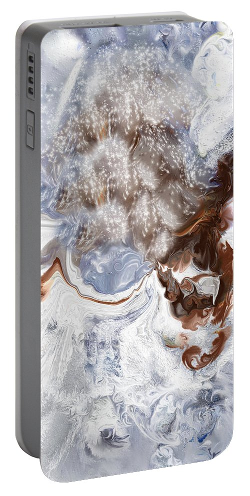 Digital Art Portable Battery Charger featuring the digital art Winter Bliss by Linda Sannuti