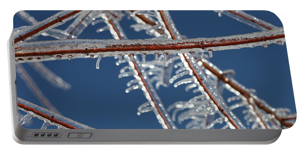 Winter Portable Battery Charger featuring the photograph Winter Blue by Nadine Rippelmeyer