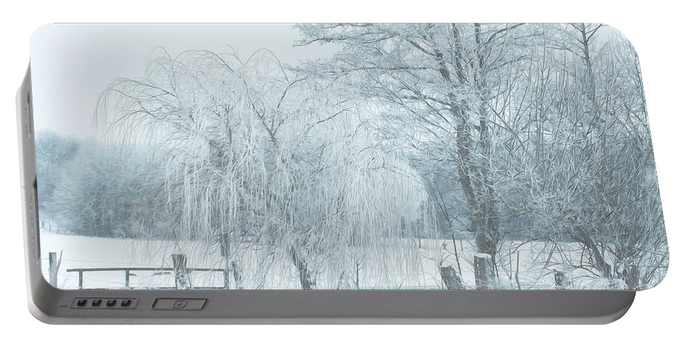 Photo Portable Battery Charger featuring the photograph Winter Chill by Jutta Maria Pusl