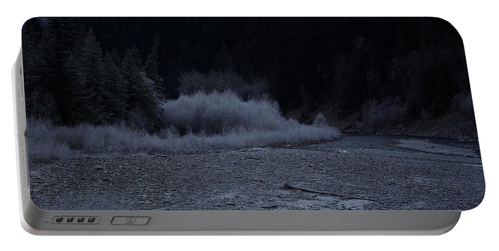 Winter Portable Battery Charger featuring the photograph Winter Creek by Cindy Johnston