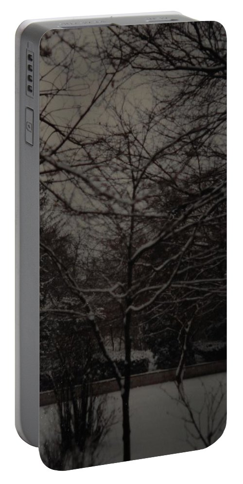 Lights Portable Battery Charger featuring the photograph Winter Dusk by Rob Hans