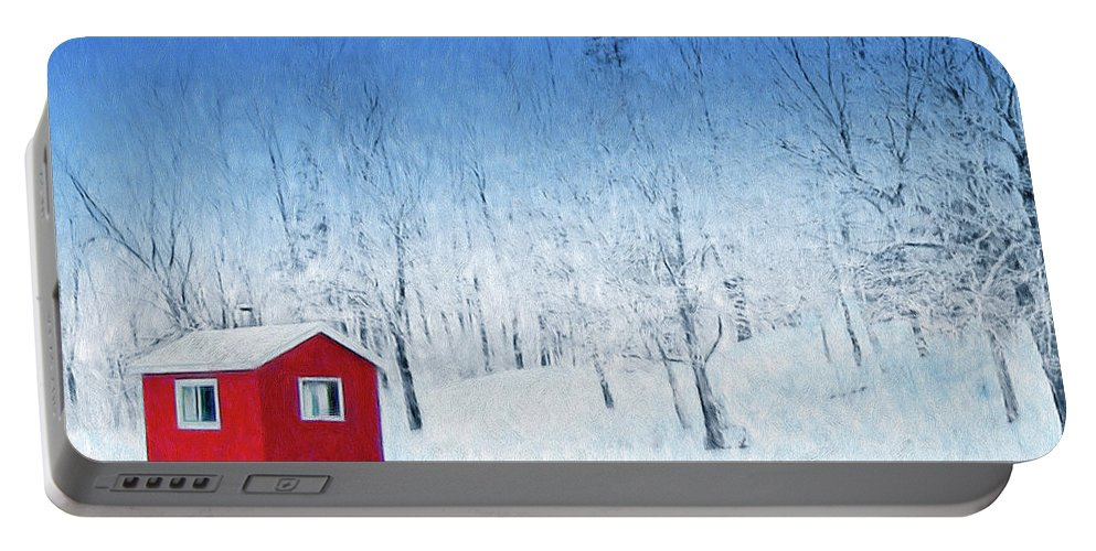 Winter Haven Portable Battery Charger featuring the painting Winter Haven by Dominic Piperata