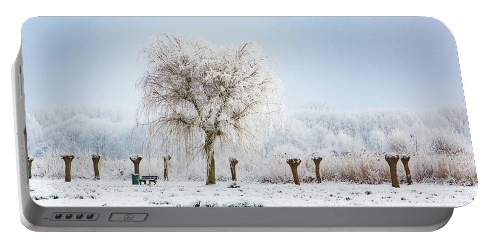 Holland Portable Battery Charger featuring the photograph Winter In Holland by Casper Cammeraat