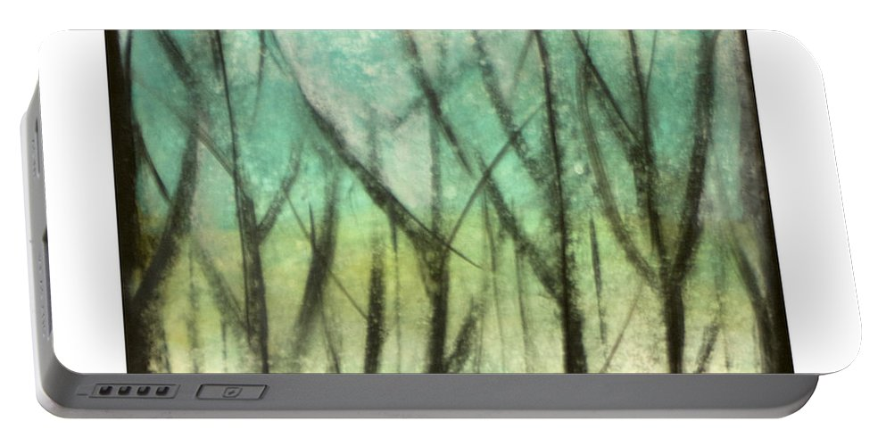 Trees Portable Battery Charger featuring the painting Winter Into Spring by Tim Nyberg