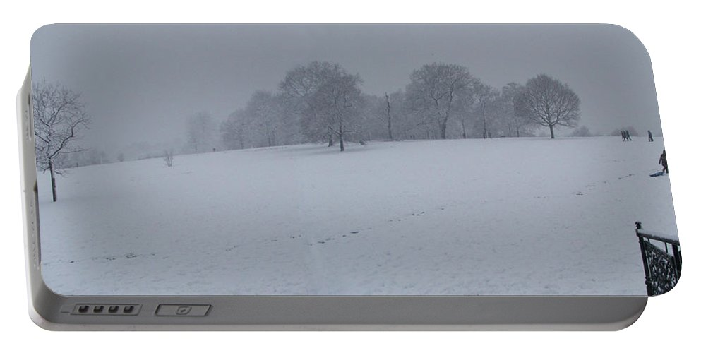 London Portable Battery Charger featuring the photograph Winter Landscape London by Heather Lennox