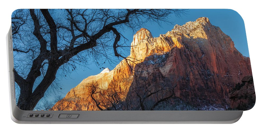 Landscape Portable Battery Charger featuring the photograph winter Light 2 by Jonathan Nguyen