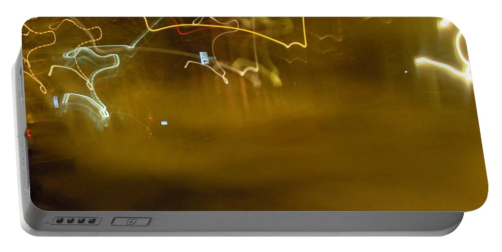 Photograph Portable Battery Charger featuring the photograph Winter Lights by Thomas Valentine