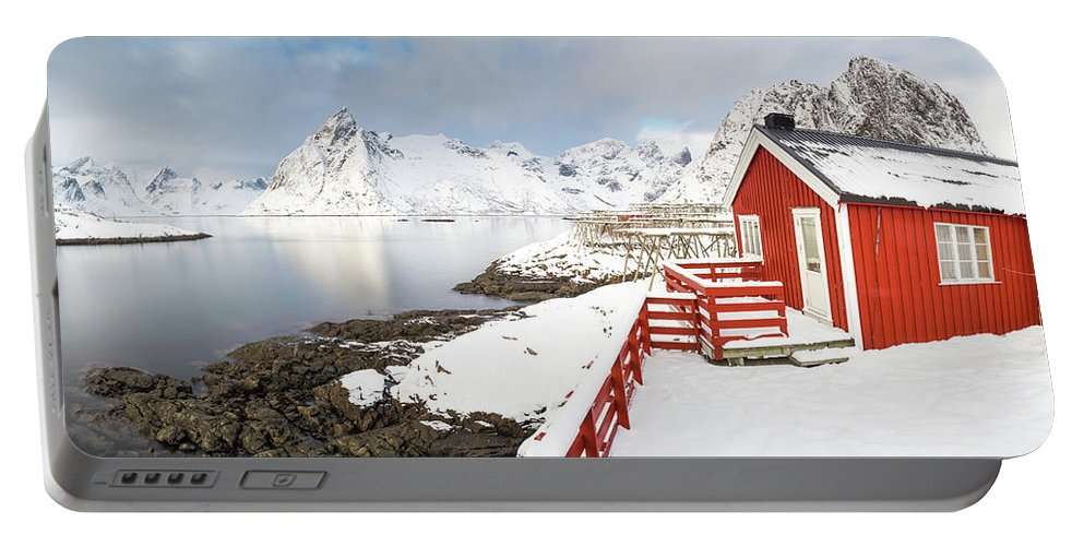 Lofoten Portable Battery Charger featuring the photograph Winter Morning by Alex Conu