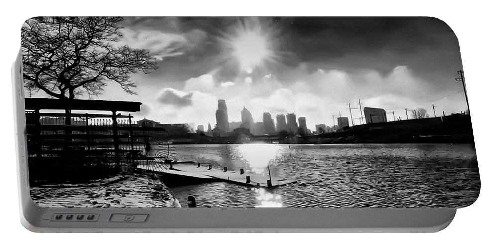 Philadelphia Portable Battery Charger featuring the photograph Winter Morning On Schuylkill by Bill Cannon