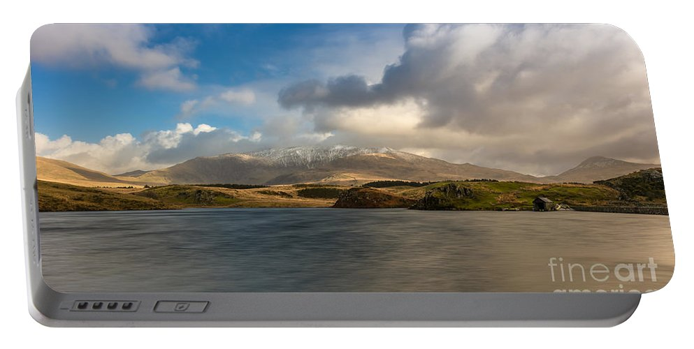Snowcapped Portable Battery Charger featuring the photograph Winter Mountains by Adrian Evans