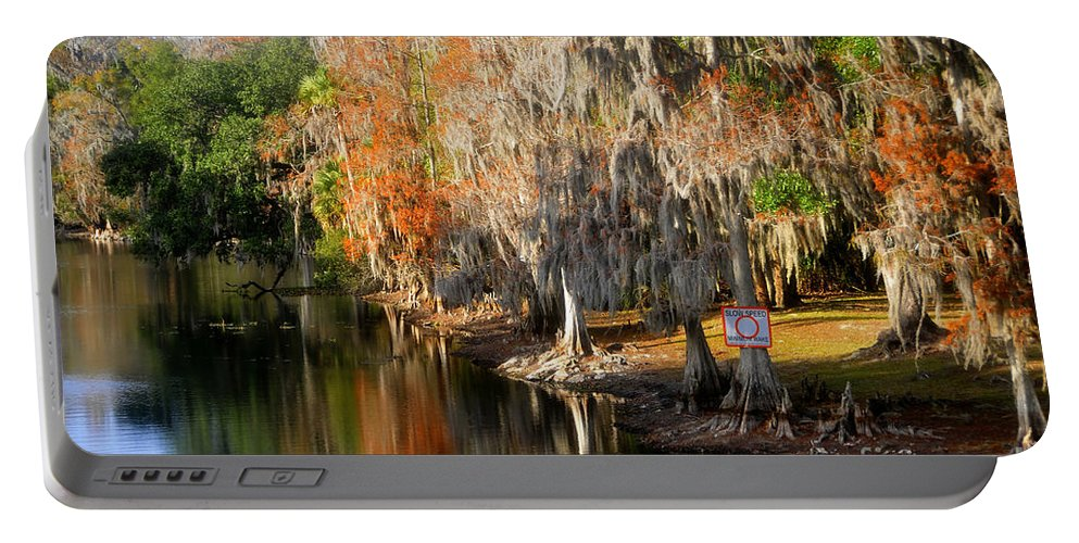 Hillsborough River Florida Portable Battery Charger featuring the photograph Winter On The Hillsborough by David Lee Thompson