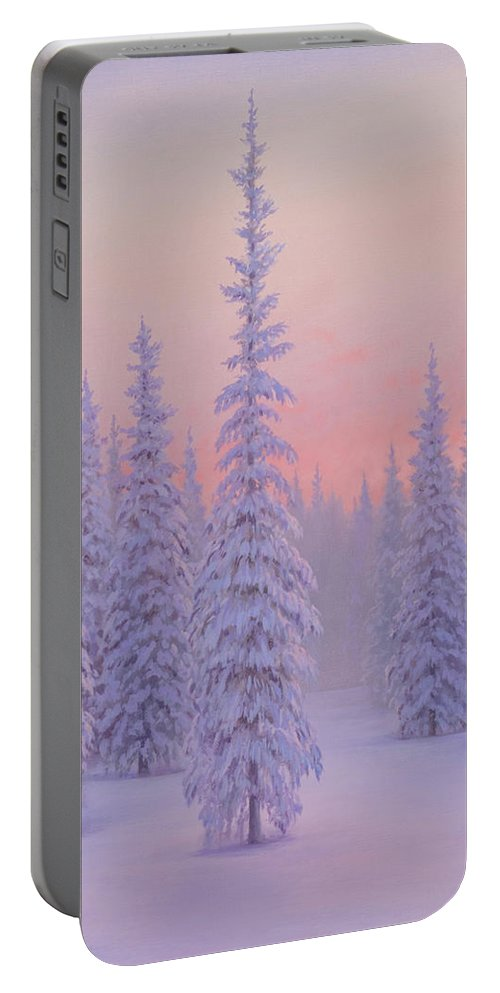 Winter Portable Battery Charger featuring the painting Winter Palace by Brian McCarthy