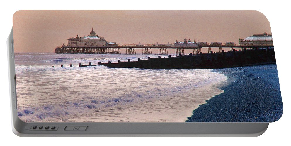 Winter Portable Battery Charger featuring the photograph Winter Pier by Heather Lennox