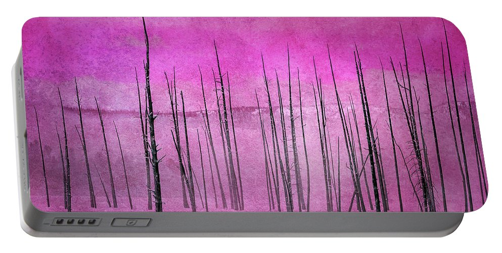 Yellowstone Portable Battery Charger featuring the photograph Winter Pink 7913pink by Karen Celella