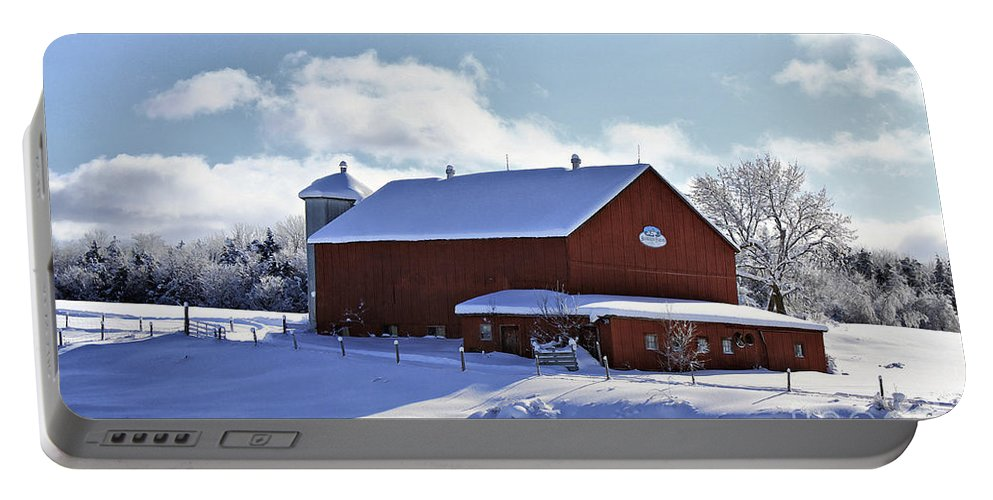 Winter Portable Battery Charger featuring the photograph Winter Red 2010 by Deborah Benoit