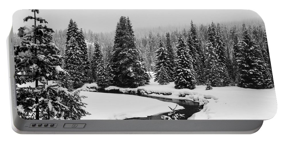 Mccall Portable Battery Charger featuring the photograph Winter Riverscape by Angus Hooper Iii