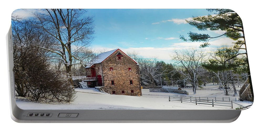 Winter Portable Battery Charger featuring the photograph Winter Scene On A Pennsylvania Farm by Bill Cannon