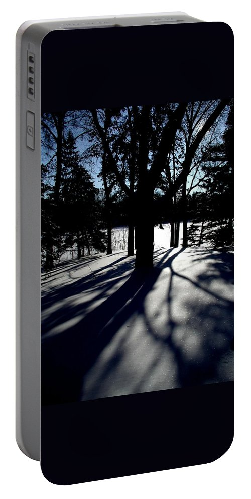 Landscape Portable Battery Charger featuring the photograph Winter Shadows 2 by Tom Reynen