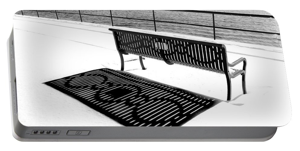 Gloucester Portable Battery Charger featuring the photograph Winter Shadows by Greg Fortier