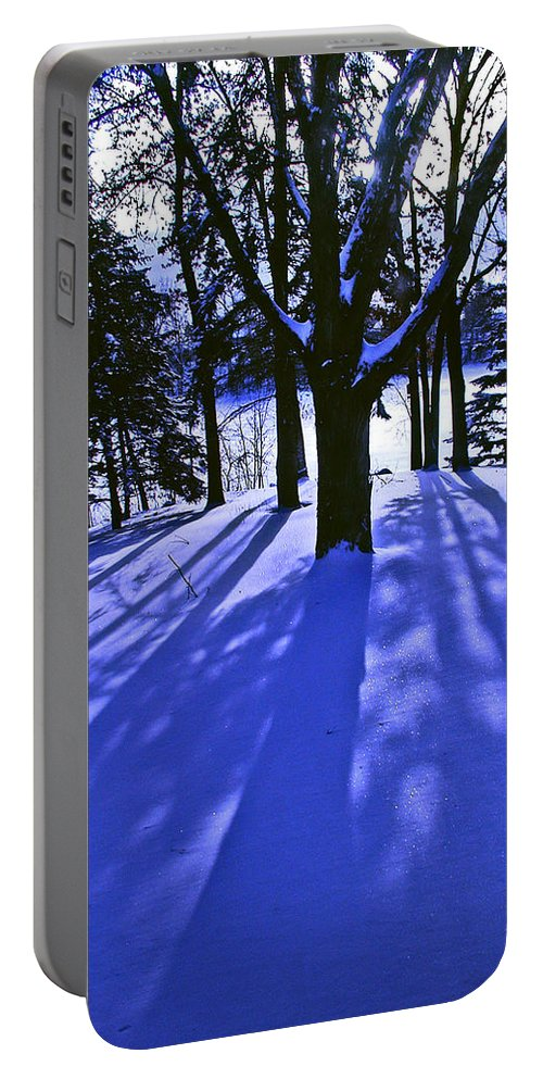 Landscape Portable Battery Charger featuring the photograph Winter Shadows by Tom Reynen