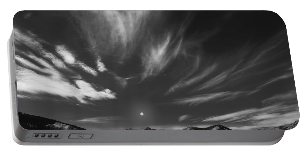 Winter Portable Battery Charger featuring the photograph Winter Sky by Leland D Howard