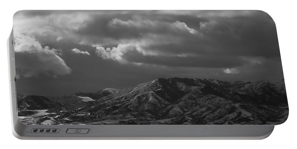 Salt Lake City Portable Battery Charger featuring the photograph Winter Sky by Rona Black