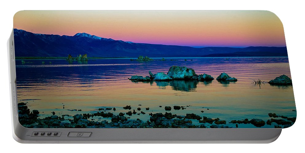 Mono Lake Portable Battery Charger featuring the photograph Winter Sunrise by Misty Tienken