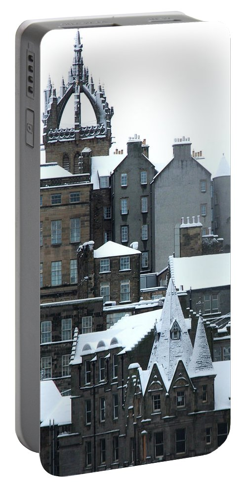 Scotland Portable Battery Charger featuring the photograph Winter Townscape Scotland by Heather Lennox