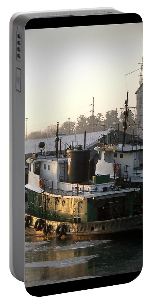 Tugs Portable Battery Charger featuring the photograph Winter Tugs by Tim Nyberg
