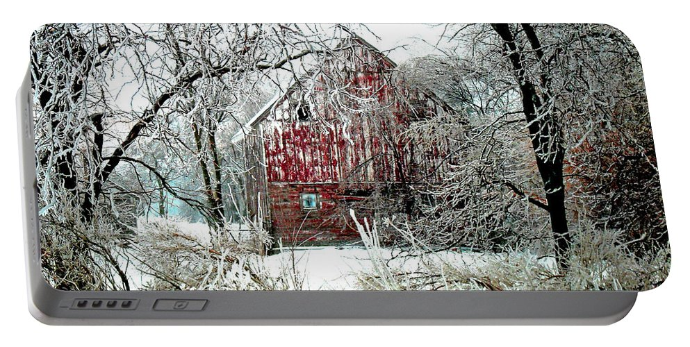 Christmas Portable Battery Charger featuring the photograph Winter Wonderland by Julie Hamilton