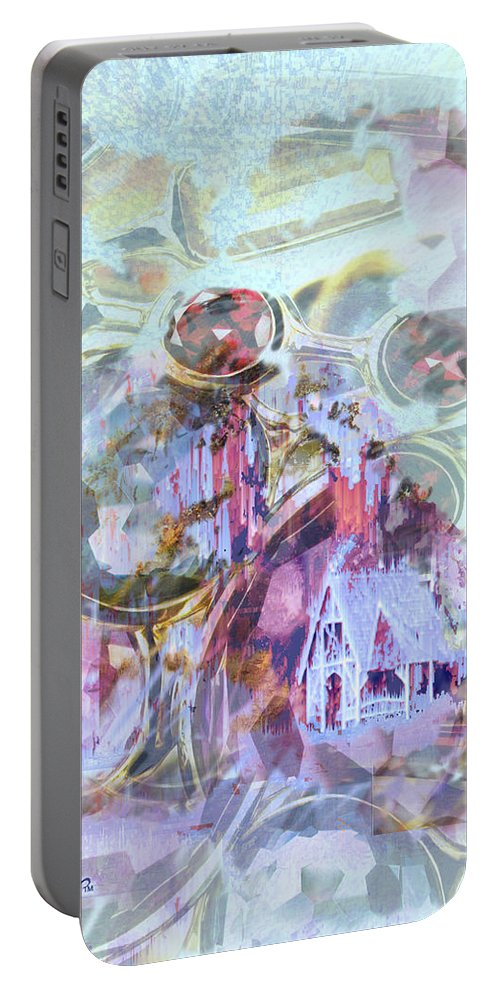 Winter Wind Portable Battery Charger featuring the digital art Winters Blast by Seth Weaver