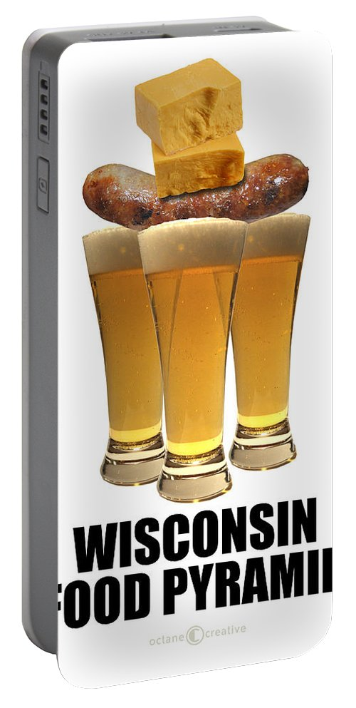 Wisconsin Portable Battery Charger featuring the photograph Wisconsin Food Pyramid by Tim Nyberg