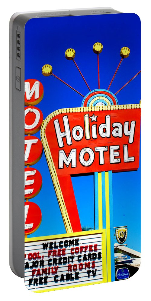 Motel Portable Battery Charger featuring the photograph Wish You Were Here by Trevor Burke